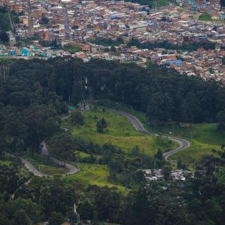 Hermosos paisajes durante el camino del Cerro Monserrate