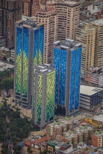 Los edificios parecían Legos desde tan alto!
