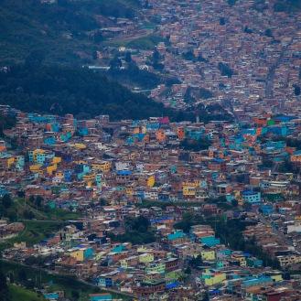 Vista Panorámica de Bogotá desde la cima del Cerro